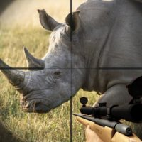 Rhino Hunter Shooting Strike