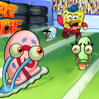 Bob Esponja: The Great Snail Race Racing