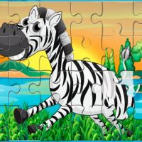Happy Animals Jigsaw Game