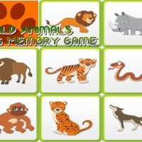 Kids Memory – Wild Animals